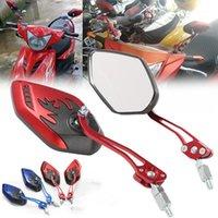 """3 colores Universal 7/8 """"22mm Bar End Espejos traseros Accesorios de motocicleta Scooters Moto Scootview Espejo Vista lateral Espejos 1"""