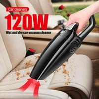 Limpiador de aspirador de autos de mano seco húmedo 120W Mini Mano de mano para el polvo automático Duster 12V1