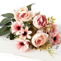 Artificial Flowers Rustic Retro Rose Fake Flowers Wedding Pa...