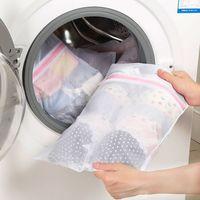 Bolsa de lavanderia de malha crua Máquina de lavar roupa profissional Underwear Solid Cuident Sacos S / M / L Reutilizável