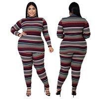 Donne Plus Size 2 pezzi set caduta inverno vestiti invernali jogger tuta sportiva pantaloni sweatsuits coapedies leggings outfits felpa bodysuiti stampa 0793