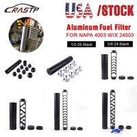 """STOCK USA 6 """"Pollice / 10 pollici Spiral 1/2-28 5 / 8-24 Tubo di alluminio singolo Tubo per auto Filtro carburante Trappola solvente per Napa 4003 Wix 24003 Filtri"""