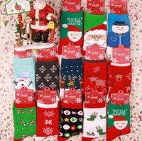 Kış Kadın Çorap Noel Çorap Sevimli Karikatür Elk Geyik Çorap Pamuk Sıcak Noel Baba Yumuşak Çorap Tutun