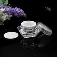 15g / ml Diamant Arttopf Acryl Kosmetische leere Jar Lidschatten Makeup Gesichtscreme Lippe Balsam Container Flasche Probe Verpackung 234 J2