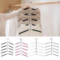 5 слоев нержавеющей стали многофункциональные вешалки для одежды брюки для хранения вешалки для хранения ткань вешалка многослойные хранения ткани вешалка1