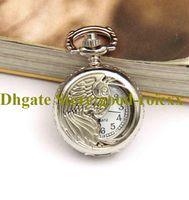 Anjo asas homens mulheres relógio relógio colar acessórios camisola cadeia senhoras pendurado mens espelho esportes de quartzo relógios AA00154
