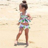 طفل طفل طفلة البيكينيات فلامنغو تانكيني ملابس السباحة بيكيني مجموعة المايوه LY167