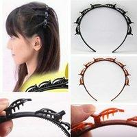 Double Bangs Hairstyle Hairpin Acessórios de Cabelo Dupla Camada Bangs Clip Headbands Hairbands