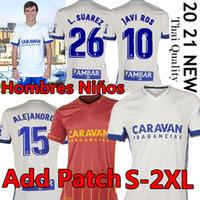 20 21 Real Zaragoza Soccer Jersey 2020 2021 Shinji Kagawa André Pereira Alberto Soro Camisetas de Futbol Man Kids Set Football Shirts