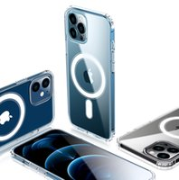 MAGSAFE Şeffaf Şeffaf Akrilik TPU PC Manyetik Darbeye Hard Case iPhone 12 Mini Pro Max Kablosuz Şarj