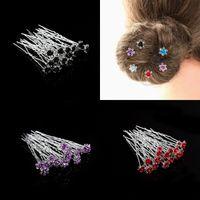 Kuş Rhinestone Kristal Firkete Takı Kadınlar Gül U Şekilli Alaşım Moda Firkete Zarif Saç Dekor Aksesuar 0 36BC J2