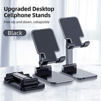 Heißer Verkauf Faltender Schreibtisch Telefon Standhalter für iPhone iPad Universal Tragbare Faltbare Erweitungsmetall Desktop Tablettisch Stand 2 stücke