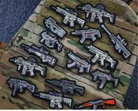 Патчи для вышивания формы пистолета 9 см DIY Appliques Asocious Hoop и петля Assault Pistol винтовка снайперская военная армия