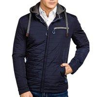 Bahar Erkekler Pilot Bombacı Ceket Erkek Moda Beyzbol Hip Hop Palto Yeni Kış Rahat Kapüşonlu Epaulet Pamuk Yastıklı Ceketler