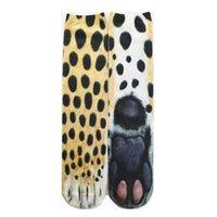 Nueva impresión de transferencia térmica Calcetines impresos 3D Animal Unisex para adultos Piernas de perro PAW garras personalizadas calcetines digitales largos tubo ddf3843