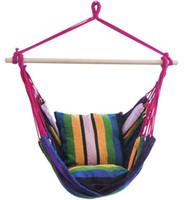 Asılı Hamak Taşınabilir Seyahat Kamp Ev Yatak Odası Tuval Tembel Salıncak Sandalye Bahçe Kapalı Moda Hamak Salıncaklar Koltuk Sandalye GGB3349