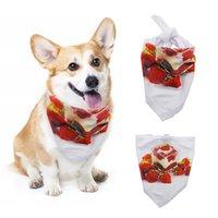 الكلب اللعاب منشفة التسامي الفراغات الأبيض الثلاثي وشاح 4 أحجام البساطة أزياء الحيوانات الأليفة اللوازم LLA234