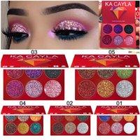 Ka Cayla المهنية 6 ألوان بريق العين ظلال الماس مطرزة عينيه لوحة مات للماء ماكياج التجميل مجموعة TSLM2