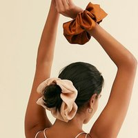 Übergroße Flecken Scrunchies Frauen Seide Scrunchie Elastische Haarbänder Mädchen Headwear Donut Griff Schleife Pferdeschwanzhalter