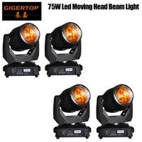 Tiptop 75W LED-stråle rörlig huvudljus Tyanshine LED, Gobo Wheels, DJ Light, 8 Prismer Disco / Club Spot Beam Wash Moving Head X 4