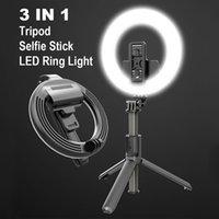 BLUETOOTH Selfie sans fil Selfie Foldable Selfie 5 '' Bague LED Bague Light Handheld EXTENTABLE Selfie Stick Trépied avec Self-Self-Durée