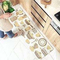 Ковры водонепроницаемый и нефтепродуктивный длинный коврик для кухни Утолщение против усталости Удобная ножная прокладка Выделенный кожаный пол кожа