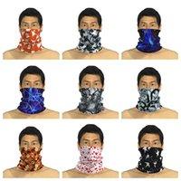Камуфляж волшебный шарф полоса бандана наполовину лицо маски 25 * 50 см оголовье тюрбан открытый спорт лыжная велосипедная маска cyz2940