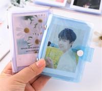 Nuova home Jelly Color Photo Album per mini scheda Photo Sticker Album Foto Instax Album Transparent Glitter Porta carte