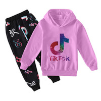 Tik Tok Fashion Casual Wear Boys and Girls Maglione + Pantaloni casual Set 2020