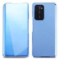 Uyumlu Samsung Galaxy Z Katlama 2 5g 2020 Cüzdan Kılıf Kapak Kart Yuvası Ile Hibrit Deri Kılıf Kickstand ile Scratch Darbeye Dayanıklı Bumpe