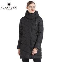 Gasman мода женщины с капюшоном Parka вниз зимний бренд для пуховики женщины зима толстые пальто женские женские джоки и пальто 18806 201030