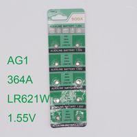 Großhandel - 30 stücke Uhr Button Batterie AG1 364 LR621 CX60 SR621SW 1.55V alkalische Uhr Münzzellenbatterie Batterie Orologio1
