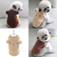 أفخم جرو الملابس جميلة 3d آذان الديكور القطط الكلب الملابس الدافئة القلطي التكتيك الحيوانات الأليفة سترة لينة الزغب الخريف الشتاء اللوازم 13 5CB G2