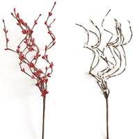 Декоративные цветы венки Рождественские ягоды искусственные сосновые конусные красные фрукты для украшения поддельных цветочных ветвей деревьев