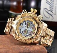 لا تقهر ساعة 2021 جديد جودة عالية حار بيع الفاخرة مهرج مهرج كبير الصلب الفرقة الرجال الكوارتز ساعة reloj de hombre