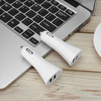 العالمي الألومنيوم سبائك البسيطة القرن شكل مزدوج USB 2-ميناء شاحن سيارة محول المقبس 5 فولت 3.1a للهاتف اللوحي