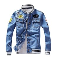 Patchwork Men's Denim Giacca Fashion Designer Jaqueta Jeans Masculina Causal Mens Denim Cappotti Vintage Style Jean Cappotto Chaqueta Hombre