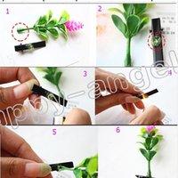 모자웨어 최신 사랑스러운 참신 식물 클립 작은 새싹 안테나 머리핀 행운의 잔디 콩나물 버섯 파티 헤어 핀 H