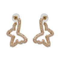 Europa e Stati Uniti Nuovo Esagerato Orecchini Big-Name Orecchini Personalità Farfly Strass Ear Shinestone Jewelry