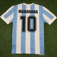 Tayland 1986 Arjantin Ev Retro Klasik Vintage Diego Maradona Jersey Futbol Jersey Camisa De Futebol Jersey Yetişkin Futbol Gömlek