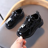 Princess Shoes For Little Girls School Dress Patent Leather Kids Party Wedding Child Shoes Black 2-12 Years