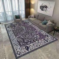Trendige Familie Nachttisch Teppich Mode Marke Schlafzimmer Dekorieren Türmatte Bodenteppich Warme Bunte Wohnzimmer Teppiche