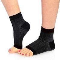 Chaussettes pour hommes 1 paire pied de la cheville Compression anti-fatigue Variquue Pieds à manches Unisexe Plantar Fasciites Douleur de soulagement Réduire le gonflement1