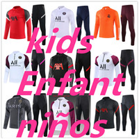 21 kids survetement psg jordan nike equipe de france real madrid barcelone paris 2020 2021 survetement foot enfant Survêtement de football soccer tracksuit