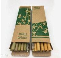 Reusable paglia cannucce di bambù barwar utile strumento cucina con pennello pulito 12pcs per tuta