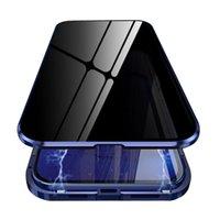 İPhone 12 Pro Max Manyetik Kılıf Gizlilik Metal Telefon Kılıfı Coque 360 Mıknatıs Önlemek-Peeping Kapak iphone 12 Mini