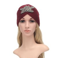 Beanie / Caps Skull Caps European и American Style Slect Clant Clant Chake Plum Blossom Chinestone Hat Дамы Thermal Cop Cat