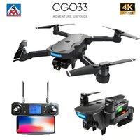 CG033 FPV sin escobillas Quadcopter con 4K UHD WIFI Cámara de Gimbal Cámara RC Helicóptero Drone plegable GPS DRON DRON GIFT VS F11 ZEN K1 201221