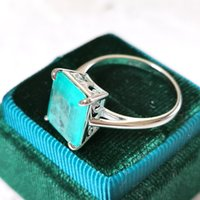 Gzxsjg paraíba turmalina gemstones anel mulheres sólida 925 esterlina prata 10x12 pedra de corte esmeralda para engajamento fine 0126