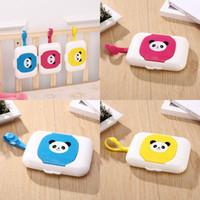 Baby Cartoon Tissue Boxes Animal Panda Prints Hanging Wet Towel Storage Box Portable Wet Wipes Travel Holder 7hy E1